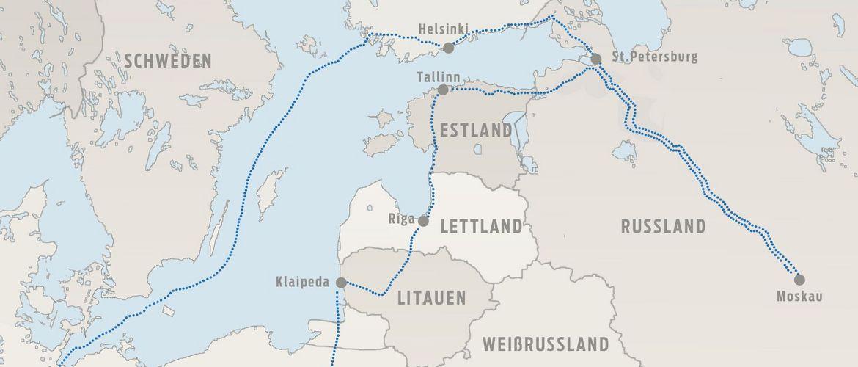 Karte Zarenreich Russland Baltikum 01